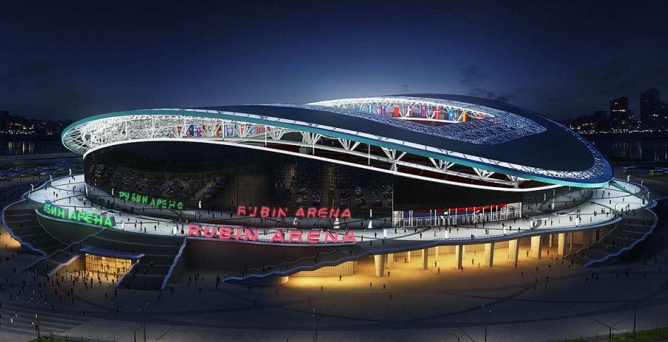 the world cup stadium kazan arena from the outside in russia 2018