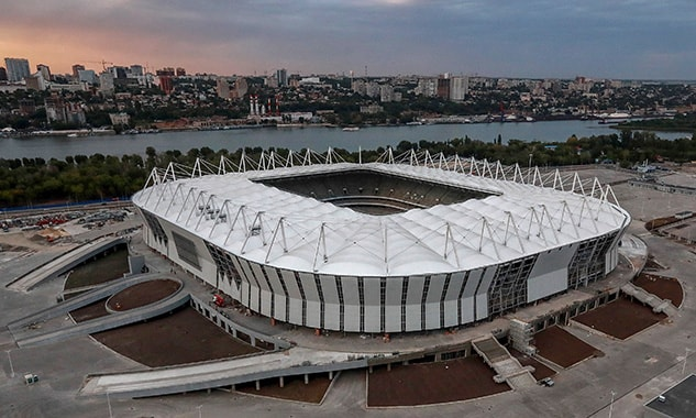 the world cup stadium rostov stadium from the outside in russia 2018