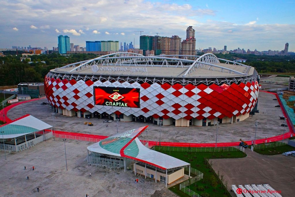 the world cup stadium spartak stadium from the outside in russia 2018