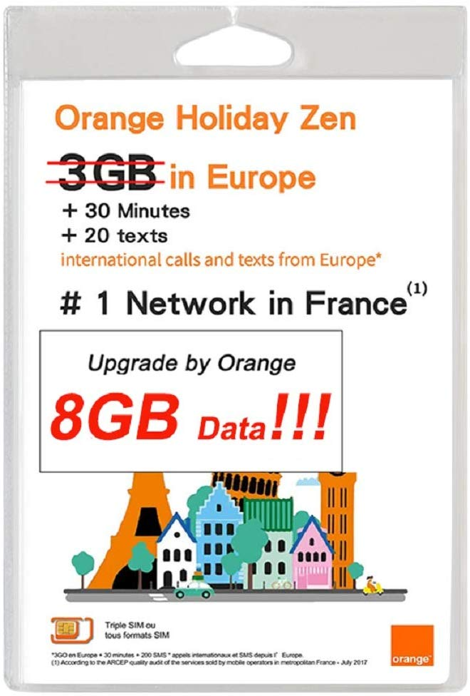 Orange Holiday Zen: 8GB* | Unlimited* Calls & SMS
