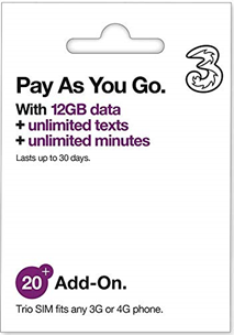 PAYG AIO20: 12GB | Unlimited Calls & SMS