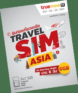 Travel SIM Asia: 6GB